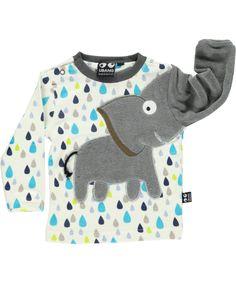 Ubang Babblechat Fantastische Druppel T-shirt met Lieve Olifant. ubang-babblechat.nl.emilea.be