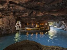 The atmospheric grotto bar at the Hyatt Regency Maui.