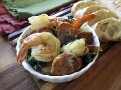 Fran Hill's shrimp scampi with chicken sausage and spinach recipe will satisfy at least one hungry reader.