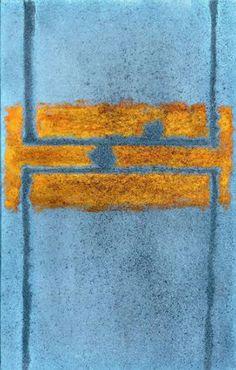 György Kepes - Tender Vigil, 1969, oil and sand on canvas.