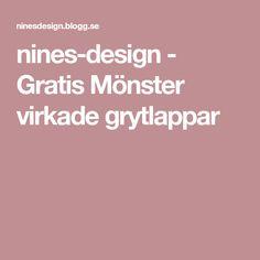 nines-design - Gratis Mönster virkade grytlappar Design