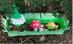 Egg Carton Woodland Scene - craft project ideas