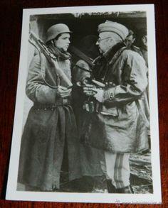 ANTIGUA FOTOGRAFIA DE LA DIVISION AZUL, VOLUNTARIOS ESPAÑOLES EN RUSIA, EL GENERAL MOSCARDO - PK-BEC (Militar - Fotografía Militar - II Guer...