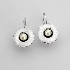 Earrings 925 Sterling Silver Cabochon Pearl Earrings 100% Solid Fashion For Gift