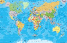 Bring the whole world into your home with World Map Wallpaper by Marshalls. World Map Wallpaper for Walls are suitable for homes as well as commercial places. Explore World Map Wallpaper now! Full World Map, World Atlas Map, Detailed World Map, World Political Map, Classroom Map, World Map With Countries, World Map Printable, World Map Wallpaper, Global Map
