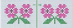 Mini Cross Stitch, Simple Cross Stitch, Cross Stitch Rose, Cross Stitch Flowers, Cross Stitch Charts, Cross Stitch Designs, Cross Stitch Patterns, Tapestry Crochet Patterns, Patchwork Quilt Patterns