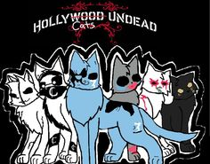 Hollywood Undead Cats by Sparkleztehpurplecat on DeviantArt