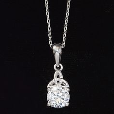 CZ Trinity Necklace - New Age & Spiritual Gifts at Pyramid Collection