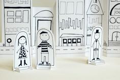 Paper City :: Download - Print - Color - Play
