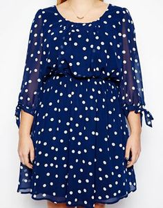 Image 3 of New Look Inspire Spot Print Long Sleeve Dress