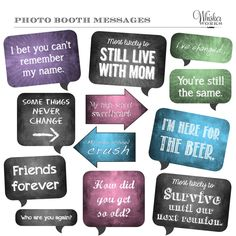 DIY Photo Booth Printables Chalkboard Signs by WhiskerWorks