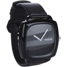 NIXON Montre Shutter Noir ❤ liked on Polyvore