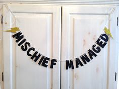 Mischief Managed Banner  Harry Potter Glitter by hawthorneave