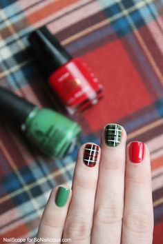 Plaid nail art - tutorial: http://sonailicious.com/plaid-nail-art-tutorial/
