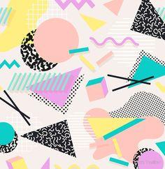 Background with flat geometric shapes Premium Vector 90s Design, Shape Design, Pattern Design, Graphic Design, Geometric Shapes Design, Pattern Ideas, Memphis Design, Art Pop, Conception Memphis