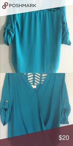 New green blouse Medium size Tops Blouses