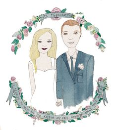 A memorable and unique gift for weddings, anniversaries, birthdays etc. these portraits are lovingly illustrated from your photo in black ink, watercolours and gold/silver foil. You can include a poem or saying, any symbols etc...    This price is for an A4 sized illustration of two people (no problem to add pets or additional people etc, please just let me know).    Process: confirm order and send photograph as well as any direction you have - eg colours, quotes, symbols etc. You will…