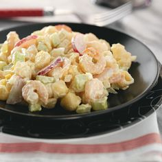 Shrimp Salad Recipe -I remember my mother making this when I was a child. It wouldn't be the Fourth of July without Grandma's Shrimp Salad, even today. —Delores Hill, Helena, Montana