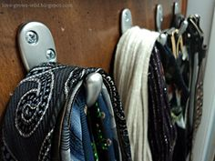 Closet Organization: Belts, Scarves, and Ties