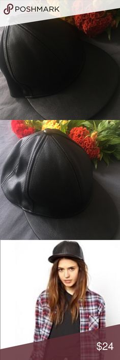 🔥FAUX LEATHER BASEBALL CAP🔥ASOS faux leather cap 🔥FAUX LEATHER BASEBALL CAP🔥Trendy leather cap from ASOS. (Sold out on website) Accessories Hats