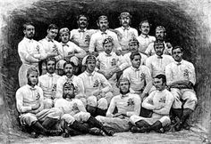 The first England Team, 1871, in the 1st international, vs Scotland in Edinburgh. Scotland won by 1 goal & 1 try to 1 try. This Day in History: Mar 27, 1871: The first international Rugby football game http://dingeengoete.blogspot.com/