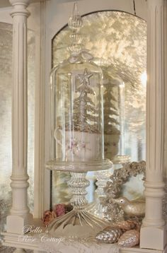How can there only be ten days left until Christmas? I have so much to share with you! tonight, I'll share some random. Shabby Chic Christmas, Silver Christmas, Victorian Christmas, Rose Cottage, Shabby Chic Cottage, Bella Rose, Christmas Wonderland, Old Bottles, Merry And Bright