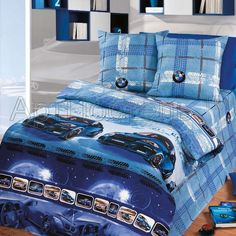 100% cotton kids boys bedding set 4 pcs CARS