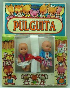 Blister Pulguita de Jesmar con 2 muñecos bebé años 80