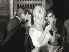 Bardot's cat eye and beehive: timeless sexiness.