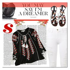 """""""Be a dreamer"""" by edita-m ❤ liked on Polyvore featuring Frame Denim, Rebecca Minkoff and Nobis"""