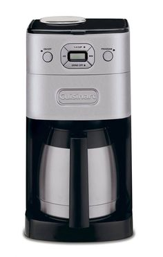 Cuisinart Stainless Steel Residential Drip Coffee Maker at Lowe's. The easiest way to great coffee is with the Cuisinart Grind and Brew Thermal Automatic Coffeemaker! This coffeemaker automatically Coffee Maker With Grinder, Drip Coffee Maker, Coffee Cups, Hot Coffee, Espresso Coffee, Coffee Coffee, Coffee Shop, Coffee Maker Reviews, Best Coffee Maker