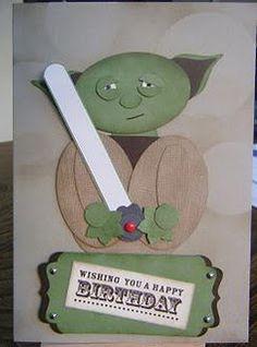 Yoda punch art card