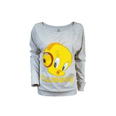 Ladies Tweety Pie Raglan Top by Freeze (100 BRL) ❤ liked on Polyvore featuring tops, shirts, pullover, sweaters, blusa, raglan sleeve shirts, raglan shirts, raglan pullover, shirt top and sweater pullover