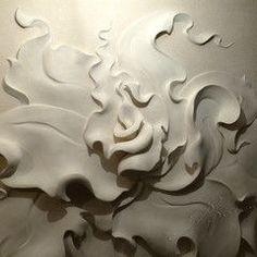 """""""Барельеф цветок"""" на декоративной штукатурке - Ольга Вольгштейн:"""