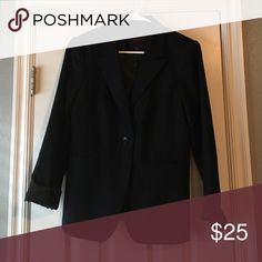 the limited navy blazer beautiful blazer to layer with a cute top or for work!! Worn but in perfect condition.. Only reason I'm parting with it is because it is too big for me :( The Limited Jackets & Coats Blazers