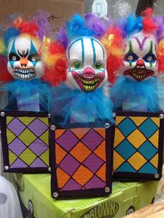 Clown in the box....This is why I'm not a fan of clowns but I am not Coach Cowling scared. :O