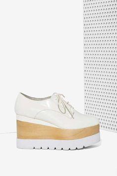 Jeffrey Campbell Berliner Leather Platform - White