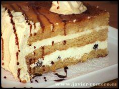Tarta de caramelo para cumpleaños, receta casera
