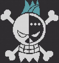 Franky's Pirate Mark  - One Piece perler bead pattern
