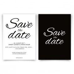 Wir Gestalten Ihre Save The Date Karten Schlicht Und Elegant In Schwarz Weiß.  Zeigen Sie Ihren Verwandten Und Freunden Auf Einfache Art, Wann Sie Heiraten  ...
