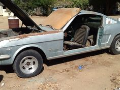 Rarely seen unrestored 1966 Ford Mustang Fastback.