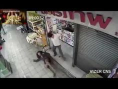 Pity beggar sleep at store front and owner chase him away