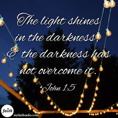 The darkness does not overcome.