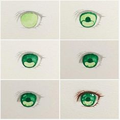Credit [ ~ I do not own this tutorial, all credit to the rightful owner (Dm/comment if you know the owner & If ur the owner dm me… Realistic Pencil Drawings, Art Drawings Sketches, Eye Drawings, Art Illustrations, Drawing Techniques, Drawing Tips, Poses References, Digital Art Tutorial, Anime Eyes