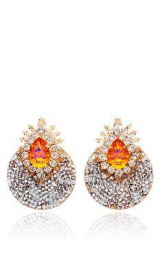 Luna Comet Earrings In Orange by Shourouk for Preorder on Moda Operandi