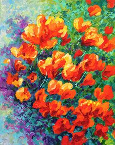 California Poppies Painting by Marion Rose - California Poppies Fine Art Prints and Posters for Sale