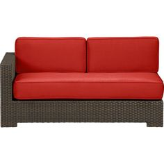 Ventura Modular Left Arm Loveseat with Sunbrella® Caliente Cushions in Outdoor Seating   Crate and Barrel