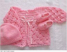 Gostou? Aceito encomenda. PASSO A PASSO http://agulhascoloridas.blogspot.com.br/2009/10/pap-casaquinho-de-croche-de-bebe-fei...