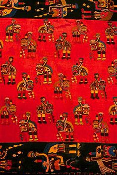 Necropolis manto (cloak or mantle), Paracas, Peru, ca.500 BC | Museum of Archaeology, Anthroplogy and History of Peru, Lima
