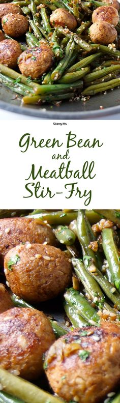 My kids love meatballs, so I make this recipe a couple times a month. It's the Green Bean and Meatball Stir-Fry!